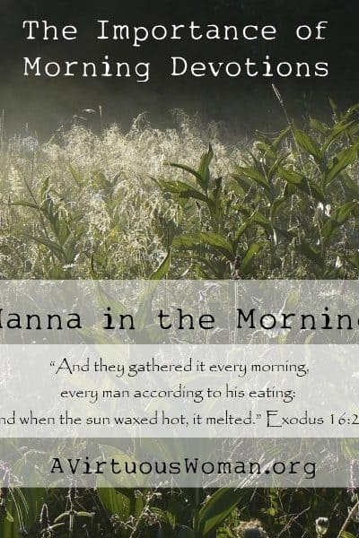 The Importance of Morning Devotions {Manna in the Morning} | A Virtuous Woman #proverbs31