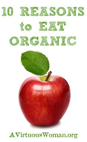 10 Reasons to Eat Organic | A Virtuous Woman #healthy #realfood #organic