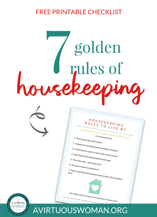 photograph about Golden Rule Printable identified as Housekeeping Laws towards Dwell Via Free of charge Printable A Virtuous