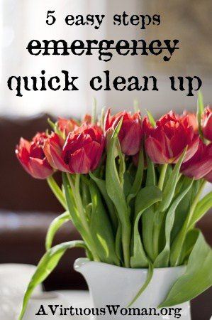 From Chaos to Calm in Less that a Day {Quick Clean Up} | A Virtuous Woman