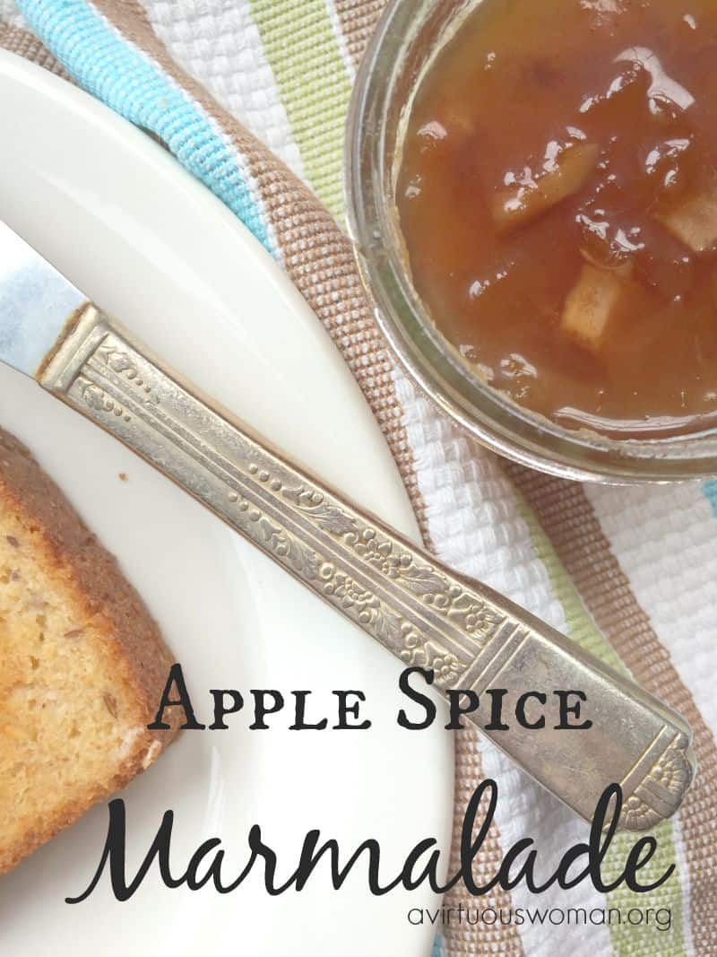 Apple Spice Marmalade @ AVirtuousWoman.org