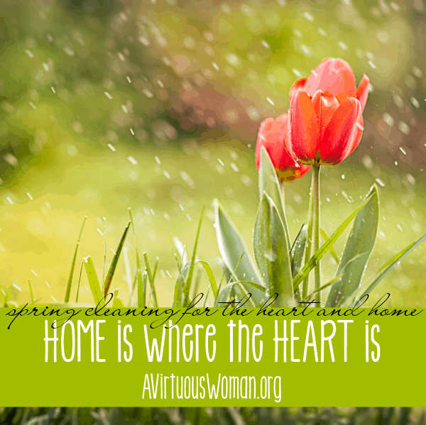 Home is Where the Heart Is @ AVirtuousWoman.org #springclean