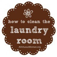 Laundry Tips | A Virtuous Woman