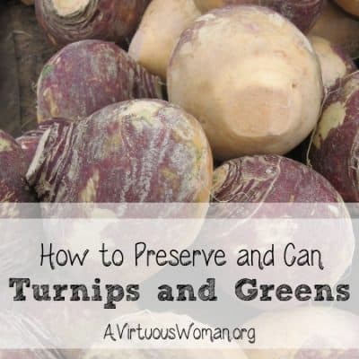 Autumn Harvest – Canning Greens and Roots