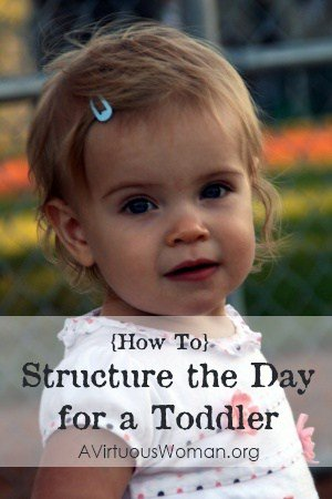 {How To} Structure the Day for a Toddler   A Virtuous Woman