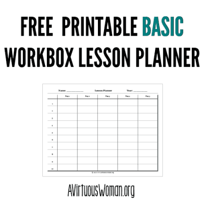 Workbox Lesson Planner