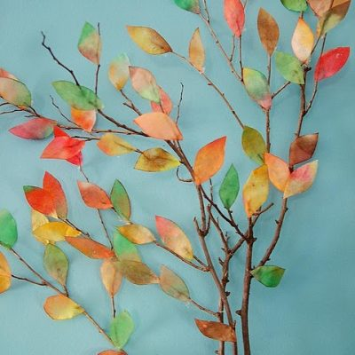 Coffee Filter Trees for Fall