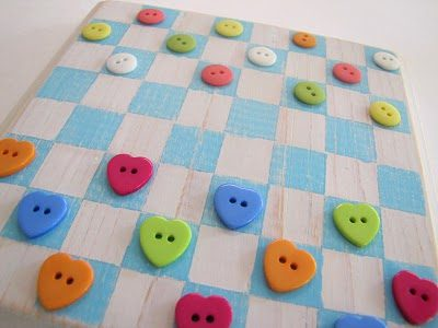 Homemade Checkers Game Board
