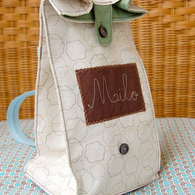 Fabulous Zipper Strap Lunch Bag
