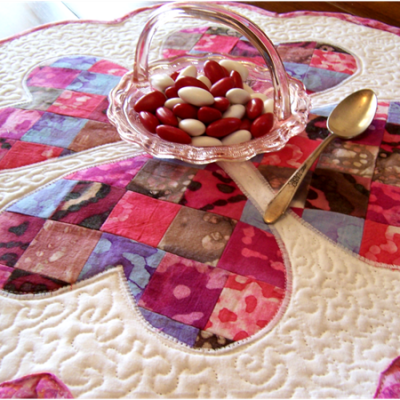 Quilted Valentine's Day Table Mat