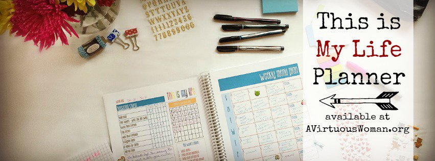 This is My Life Planner is the ULTIMATE planner for busy moms! @ AVirtuousWoman.org #thisismylife