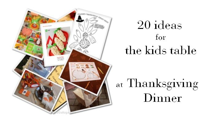 20 Ideas: Thanksgiving Kids Table