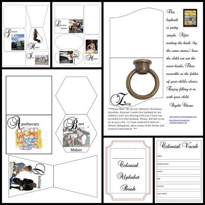 Colonial Times from A – Z Lapbook