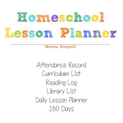 Homeschool Lesson Planner @ AVirtuousWoman.org #homeschool