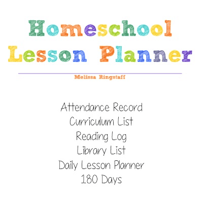 Homeschool Lesson Planner @ AVirtuousWoman.org #homeschool