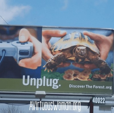 Unplug: Discover the Forest @ AVirtuousWoman.org