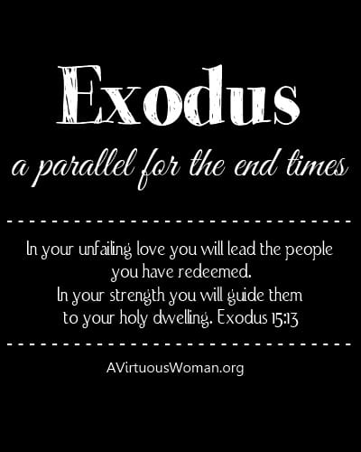 Exodus: A Parallel for the End Times | A Virtuous Woman