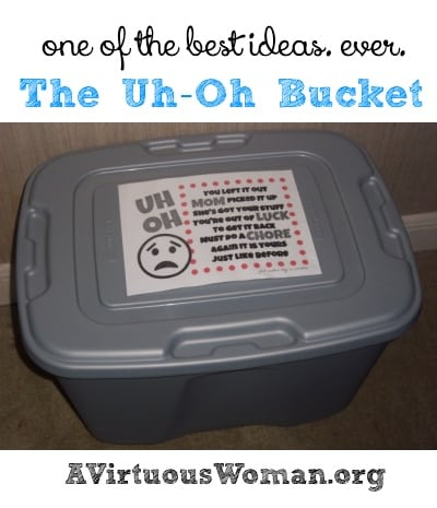 The Uh Oh Bucket