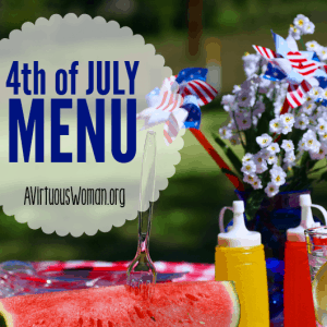 4th of July Menu Printable
