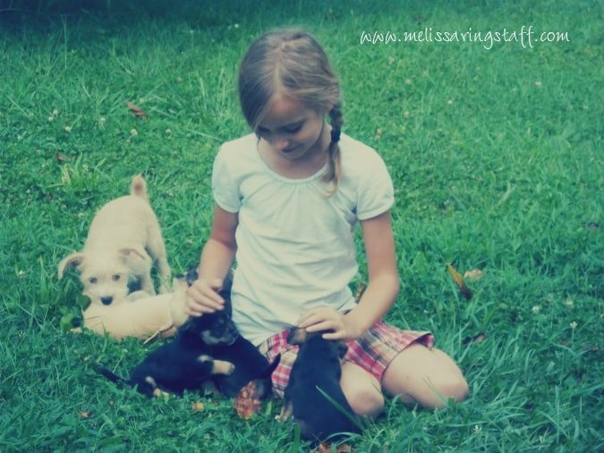 Little girls and puppies | A Virtuous Woman