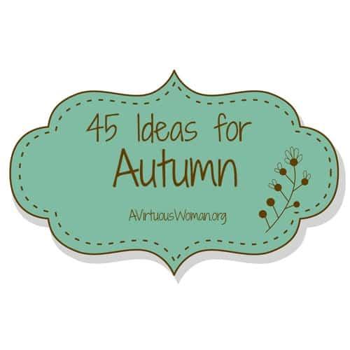 45 Ideas for Autumn @ A Virtuous Woman