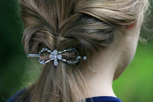 cross in hair