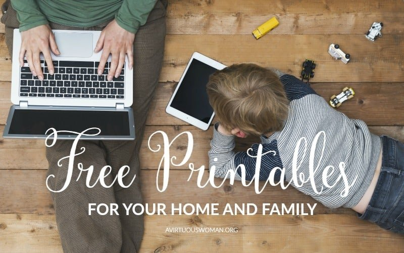 Free Printables for Home and Family