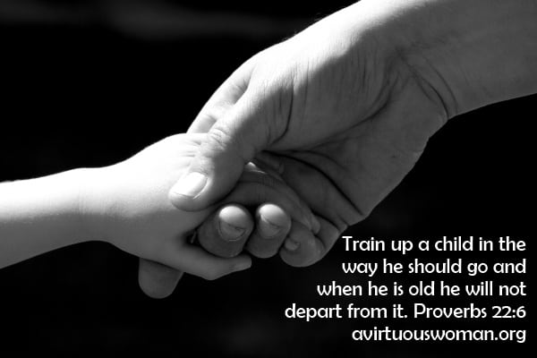 Train up a child in the way he should go on avirtuouswoman.org