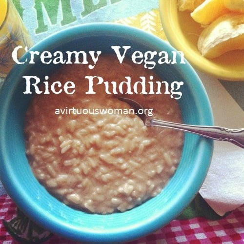 Creamy Vegan Rice Pudding | A Virtuous Woman