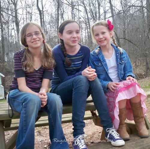Laura, Hannah, and their cousin Abbie.