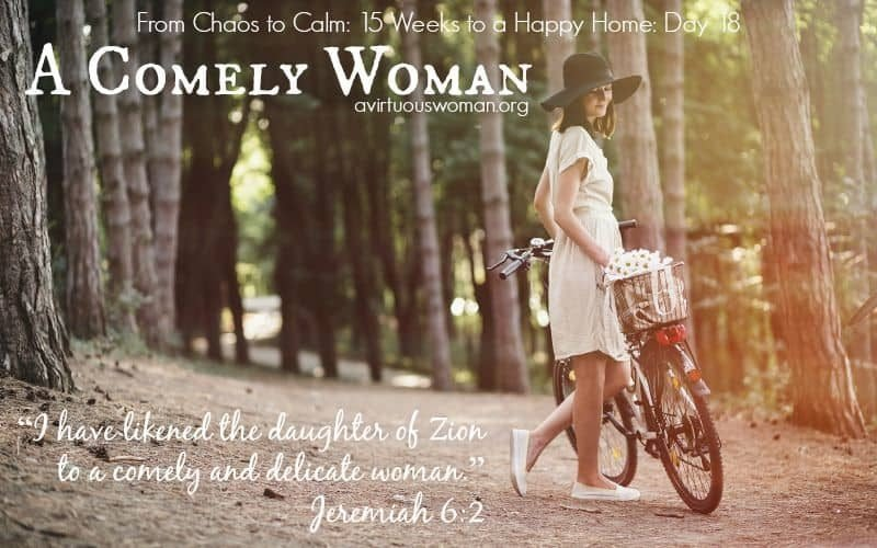 A Comely Woman {From Chaos to Calm: 15 Weeks to a Happy Home: Day 18} @ AVirtuousWoman.org