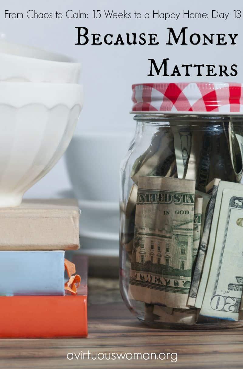 Because Money Matters @ AVirtuousWoman.org