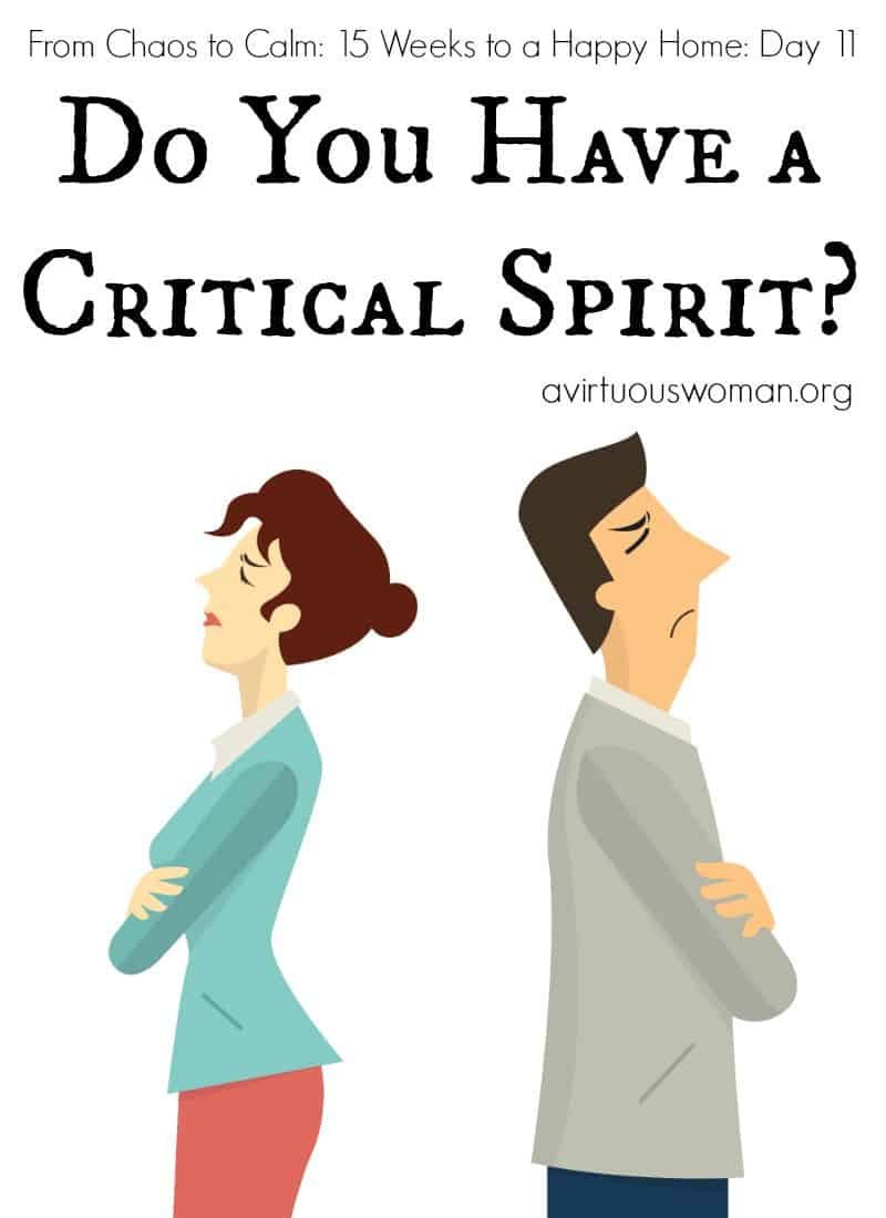 Do You Have a Critical Spirit @ AVirtuousWoman.org