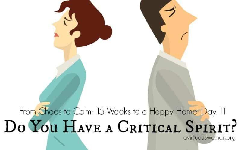 Do You Have a Critical Spirit @ AVirtuousWoman.org