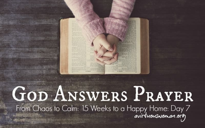 God Answers Prayer {Day 7}