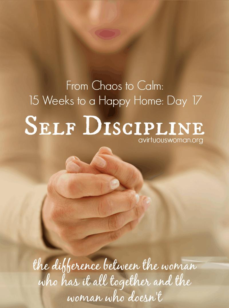 Discipline essay self
