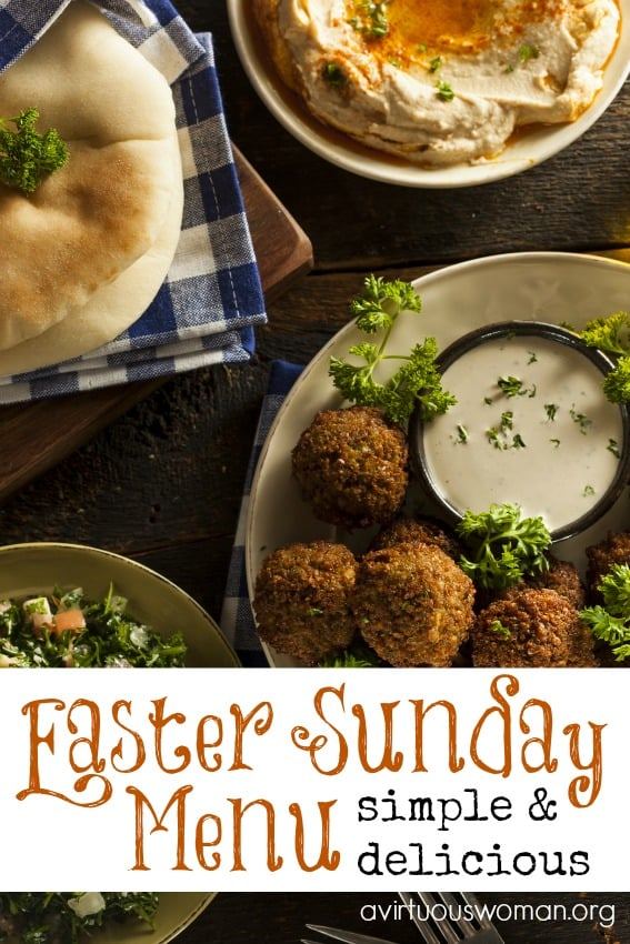 A simple, but delicious Easter Sunday Menu @ AVirtuousWoman.org