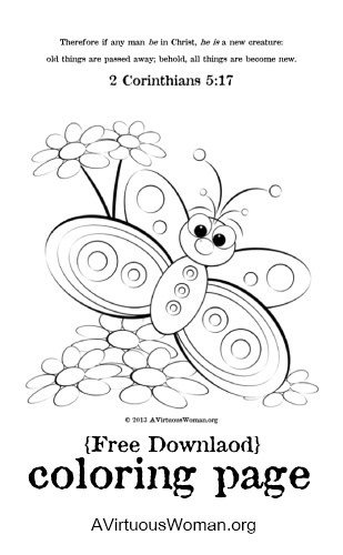 Free {A New Creation} Coloring Page Printable | A Virtuous Woman