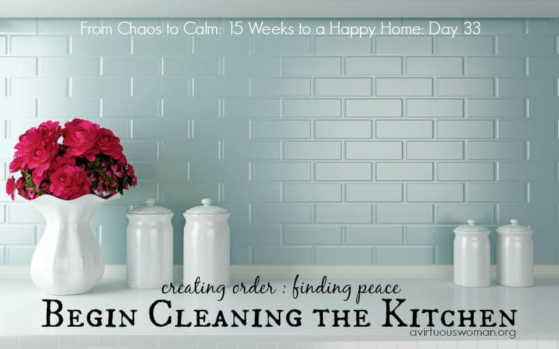 Begin Cleaning the Kitchen {Day 33}