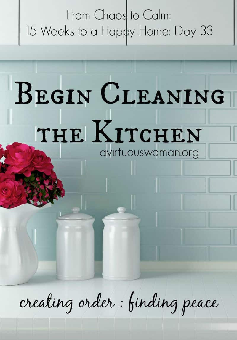 Begin Cleaning the Kitchen {Day 33} - A Virtuous Woman | A Proverbs ...