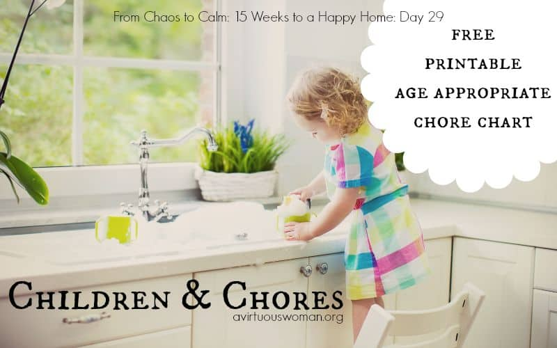 Children and Chores {Day 29}