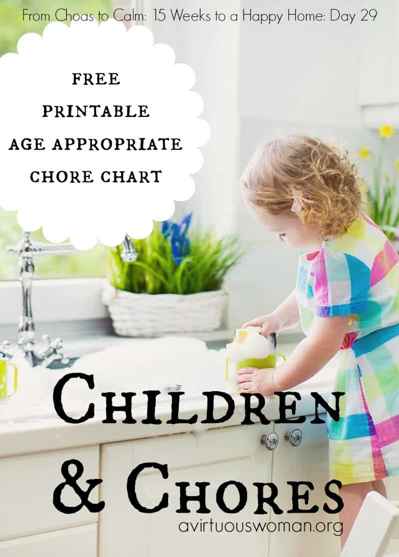 Children and Chores @ AVirtuousWoman.org