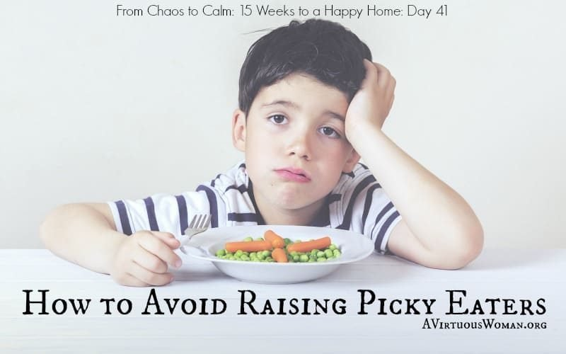 How to Avoid Raising Picky Eaters @ AVirtuousWoman.org