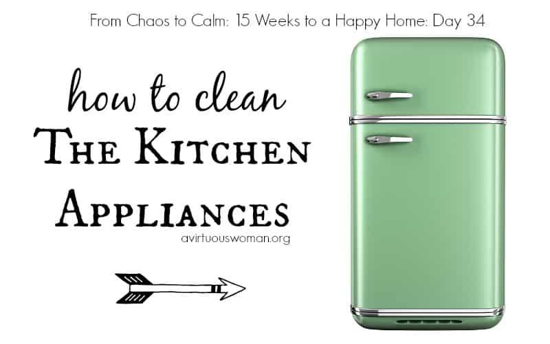 How to Clean the Kitchen Appliances @ AVirtuousWoman.org