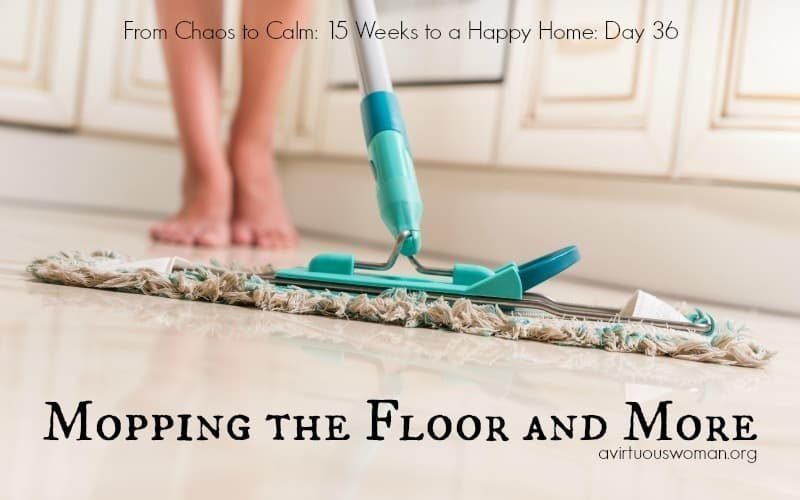 Mopping the Floor and More {Day 36}