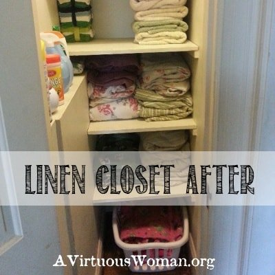 Spring Cleaning Challenge {Linen Closet} | A Virtuous Woman #cleanheartandhome #springclean