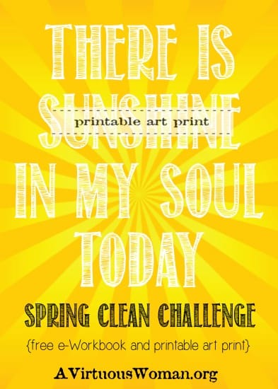 There is Sunshine in My Soul Today {Creating a Soothing Rythym to Your Day | A Virtuous Woman #cleanheartandhome #springclean