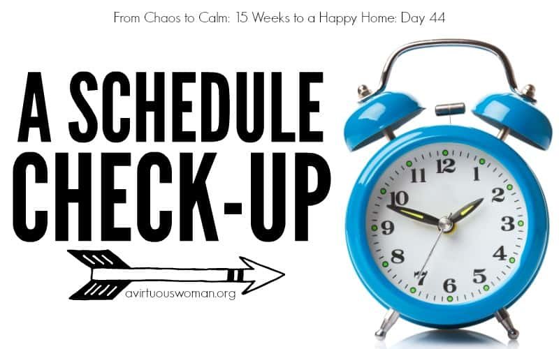 A Schedule Check-Up {Day 44}