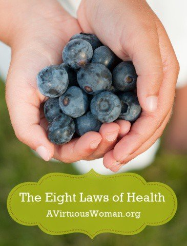 The Eight Laws of Health | A Virtuous Woman