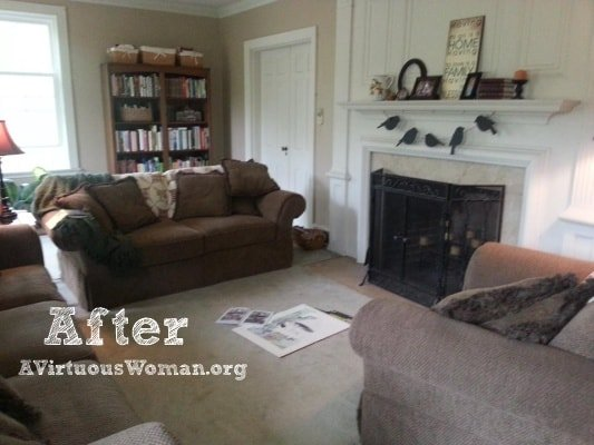 Http Avirtuouswoman Org Living Room Redo Before After Intentional Homemaking